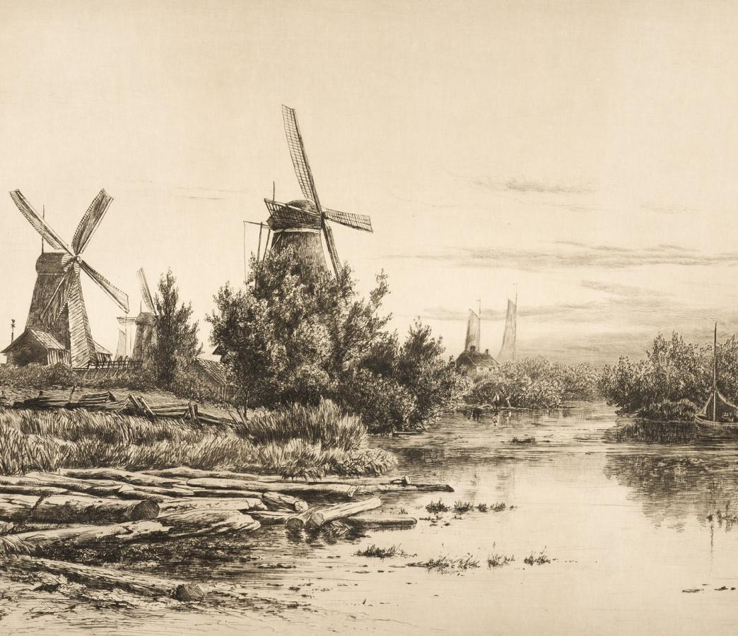 Windmills in Holland, Dordrecht, 1881